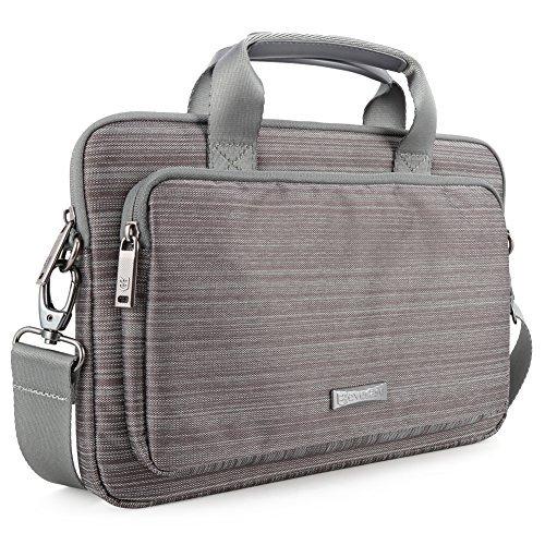 Macbook Pro 15-inch Laptop Case Evecase Classic Padded Briefcase Messenger Bag with Shoulder Strap
