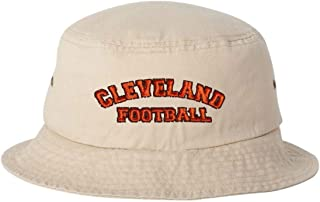 0466e940e5ff8 Go All Out Adult Cleveland Football Embroidered Bucket Cap Dad Hat
