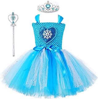 Tutu Dreams Snow Queen Dress Costume for Girls 1-8Y with Crown Wand Birthday Halloween Party