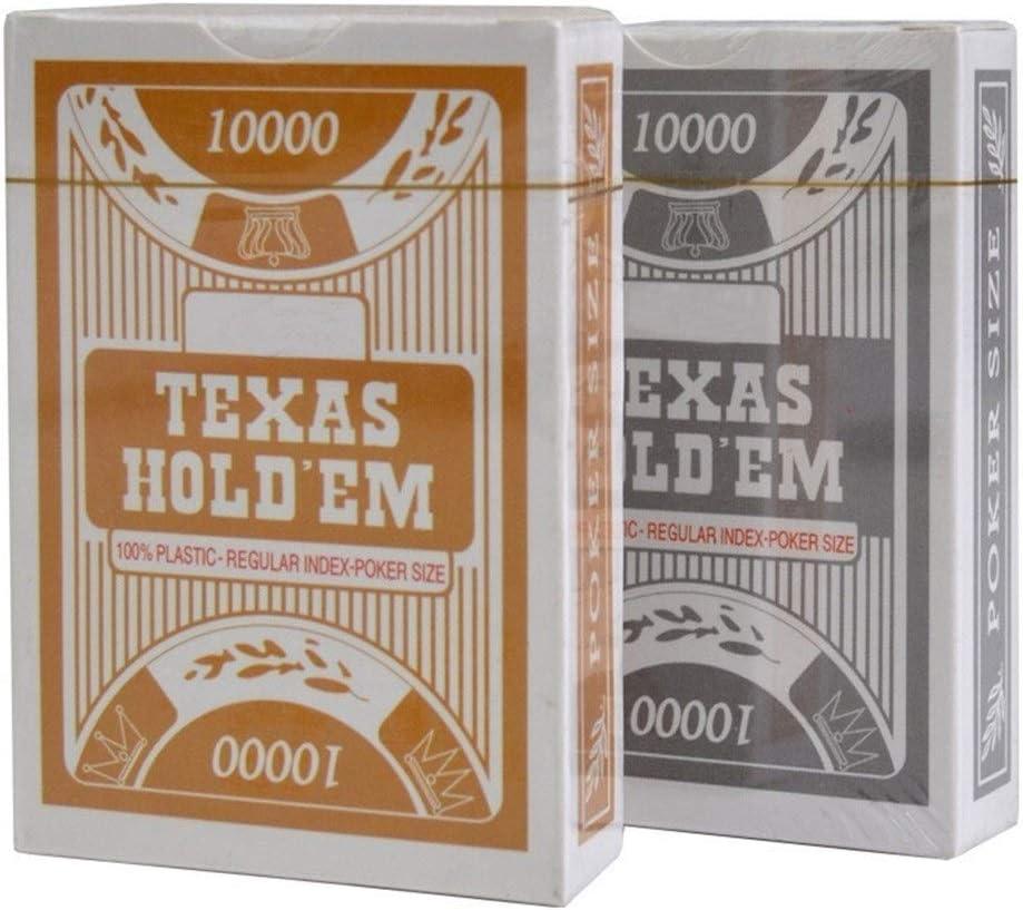 TX GIRL Plastic Speelkaarten Texas Hold'em Poker Kaarten Waterdicht En Dull Poolse Board Games Zilver/Goud (Color : 6 silver 6 gold) 2 silver