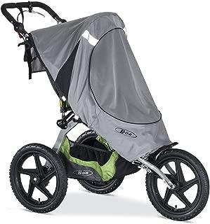 BOB Sun Shield for Single Fixed Wheel Jogging Strollers, Grey