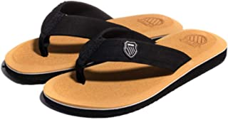 Men's Non-Slip Sandals and Slippers, Flip-Flops, Breathable Platform Sandals and Slippers, Slippers Toe Sandals, High-Qual...
