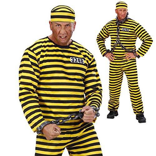 Disfraz de prisionero, para fiesta de despedida de soltero, preso, traje de prisionero, Criminal, Gánster, maleante, disfraz de prisionero, Alcatraz, psicópata, disfraz de Criminal