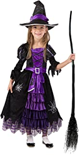 Spooktacular Creations Fairytale Witch Cute Witch Costume Deluxe Set for Girls (M 8-10)