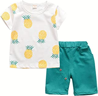 Toddler Baby Boy Girl Summer Clothes Sets Casual Shirts & Shorts Outfits