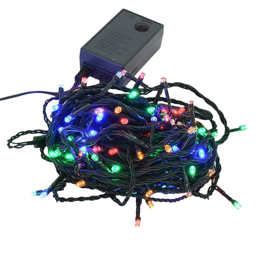 統治可能荒らす脇に【ミックス】イルミネーションLEDライト クリスマスライト 100球 点灯パターン記憶メモリー付 防雨仕様 連結可 8パターン点灯?コントローラ付