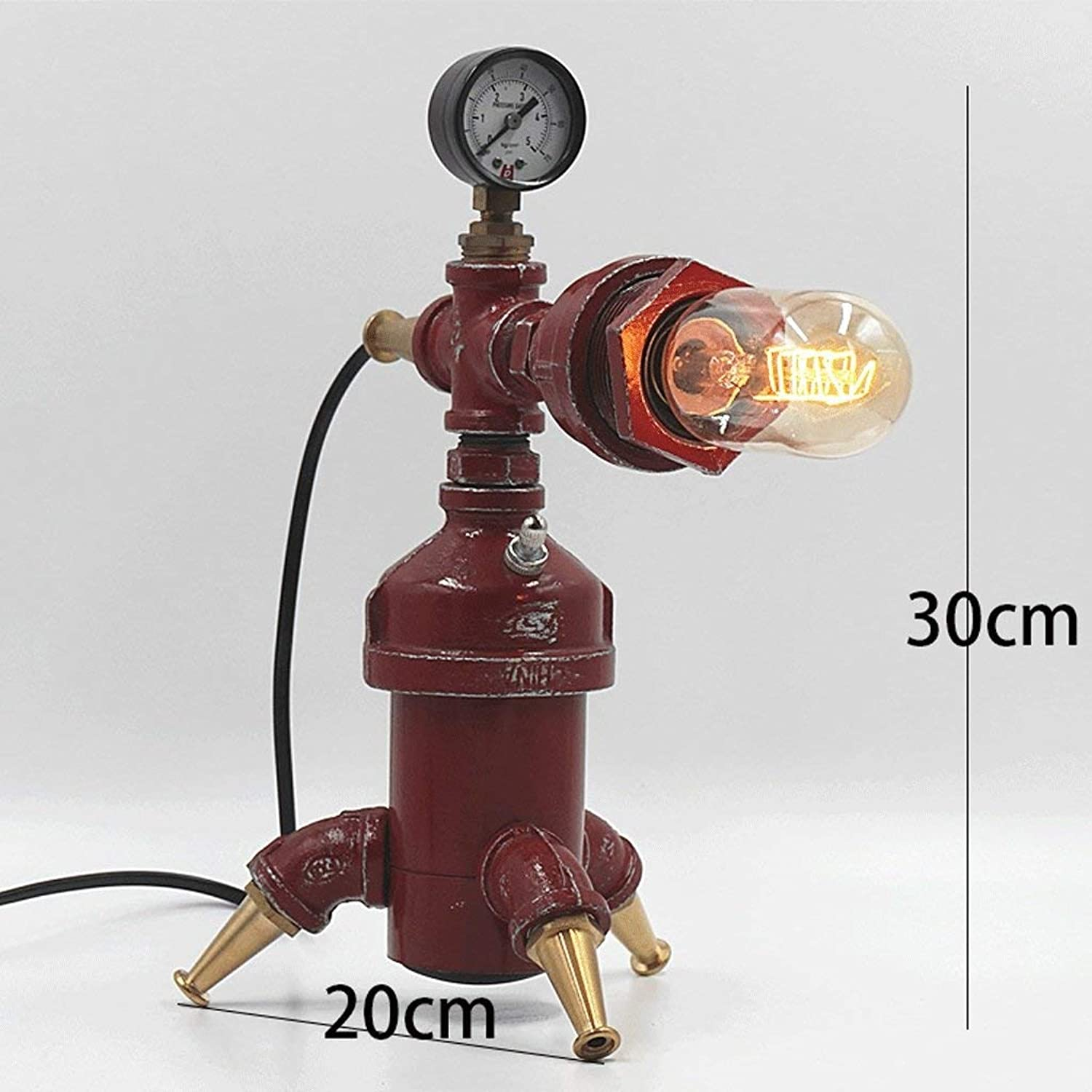 WHKFD Fire Valve Shape Led Retro Industrial Solution Village Bar Cafe Personality Water Pipe Light