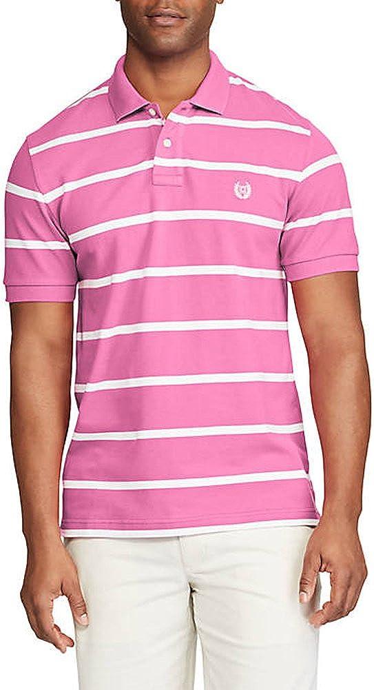 Chaps Men's Big & Tall Mesh Striped Polo Shirt