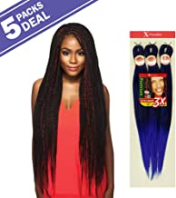 MULTI PACK DEALS! Outre Synthetic Hair Braids X-Pression Kanekalon 3X Pre Stretched Braid 52