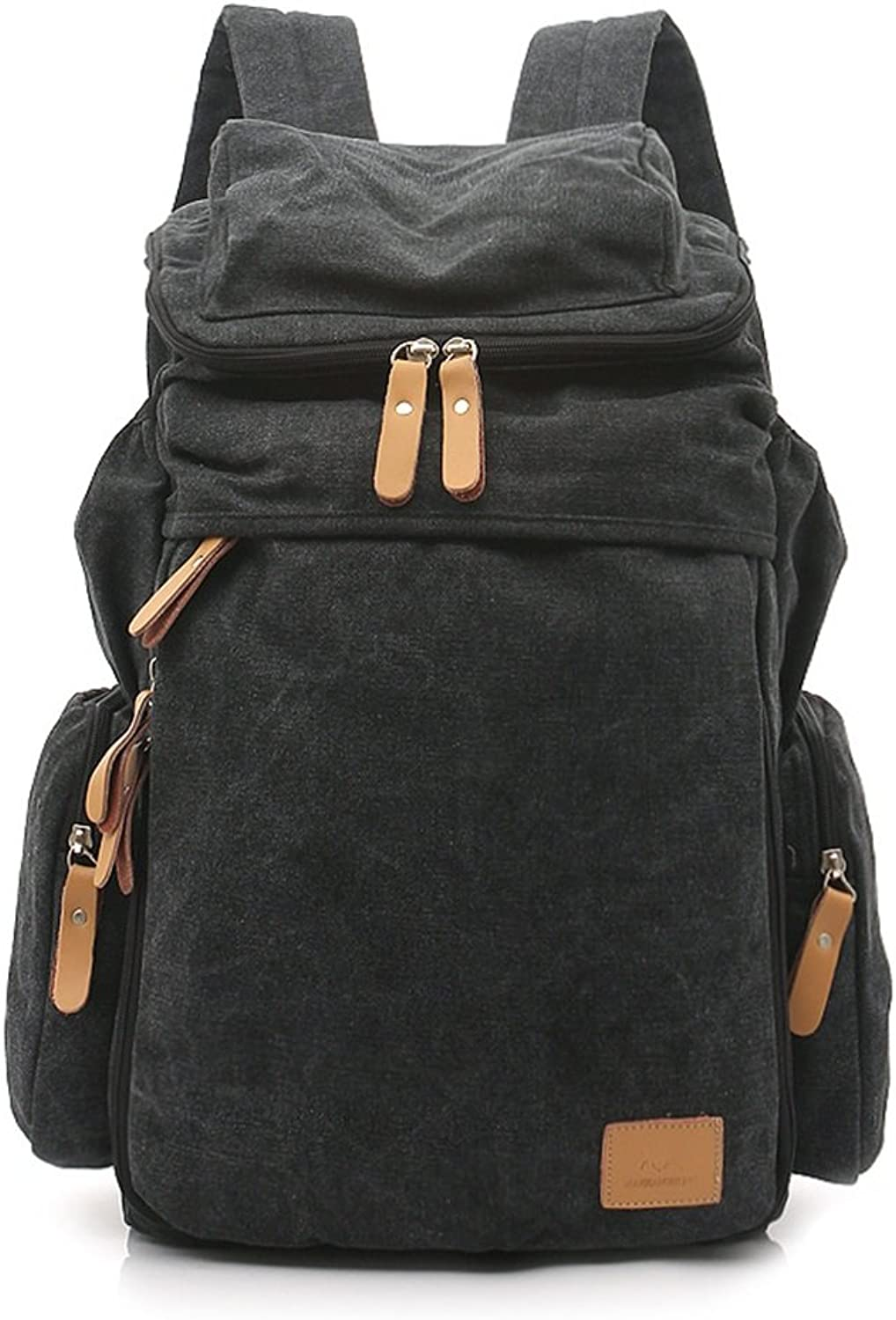 Vvvso Unisex Vintage Military Canvas Backpack for Outdoor Hiking Camping Travelling