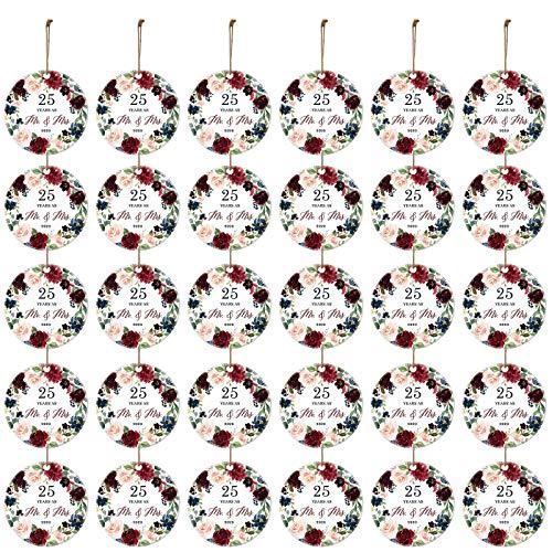 VEFSU 30 PCS 2020 Christmas Ornaments Keepsake Married Mr & Mrs Gift Wedding Anniversary Xmas Tree Decorations(N)