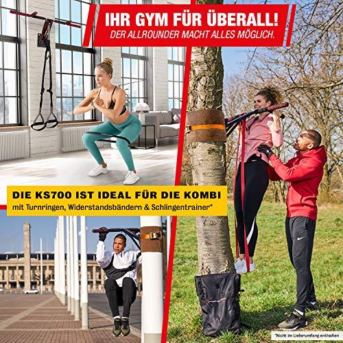 Sportstech Premium 2in1 Klimmzugstange & Dip Bar KS700 | leichte Montage |mobiles Fitnessgerät für Zuhause Wand, Baum, Garten | über 40 Übungen | im Set: Spanngurt, Rucksack, Baumschutz eBook