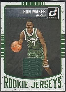 2016-17 Donruss Thon Maker Bucks Rookie Jersey Basketball Card #41