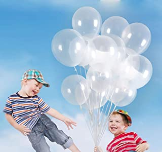 KALOR 100 Pcs Pearl Latex Balloon 12 Inch for Wedding Birthday Party Festival Supplies Clear