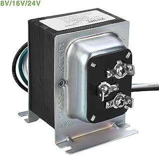 Doorbell Transformer UL certified Hardwired Door Chime Transformer Compatible with Ring Video Doorbell Pro 8V/16V/24V AC 20-30 VA multi-output Zmodo Smart Greet WiFi Doorbell, SkyBell Doorbell
