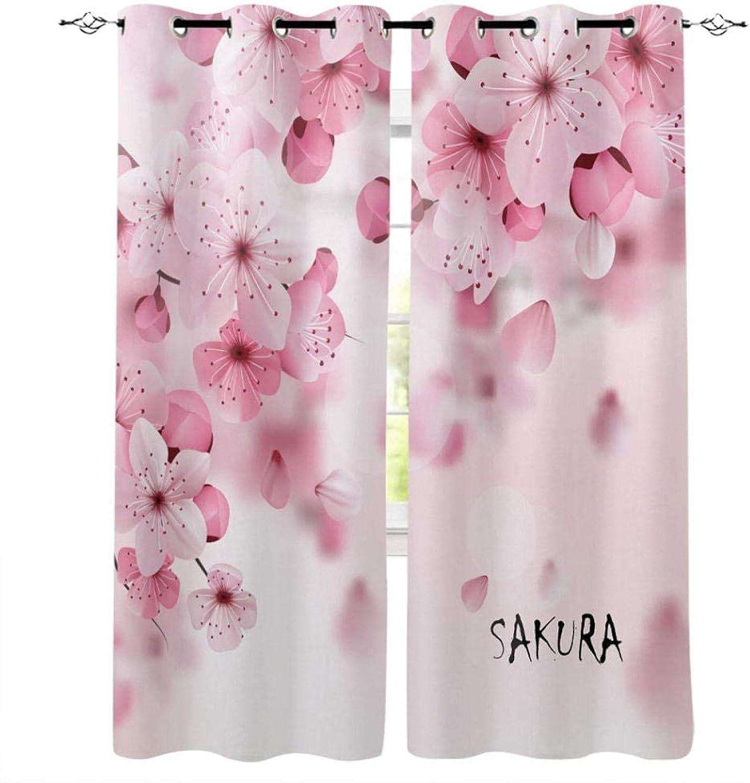 XKSJWY Kitchen Branded goods Curtains Pink Plum Plant 118X106 E Simple Inch 3D Popular product