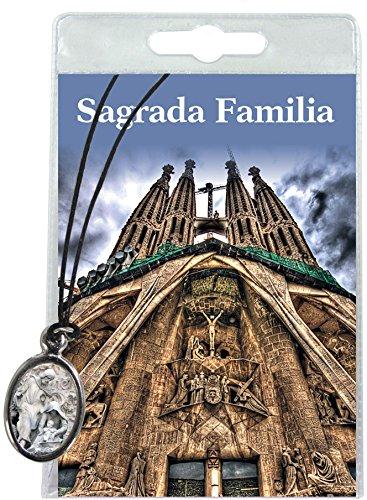 Medalla Sagrada Familia (Barcelona) con cordón y oración en español