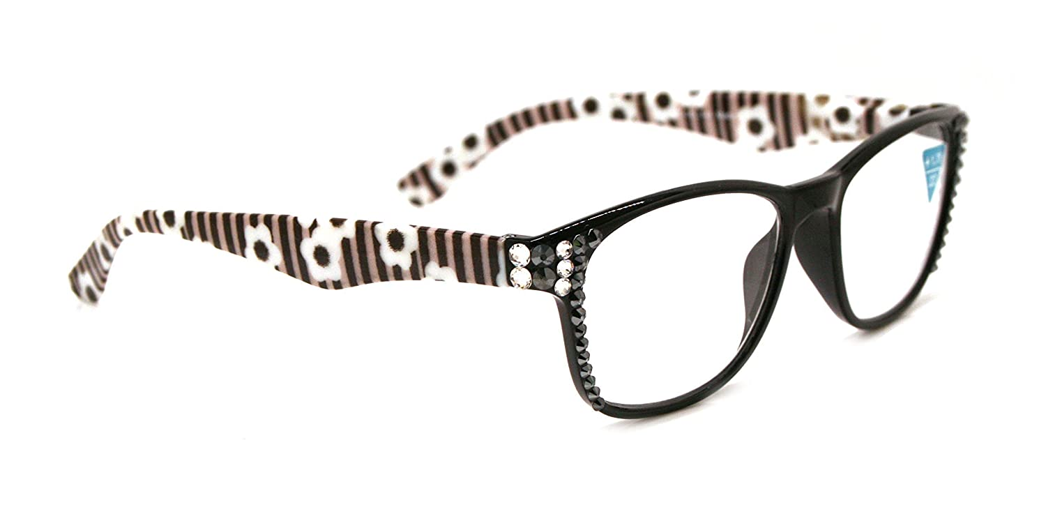 Chelsea Women Reading Arlington Mall Glasses Bling C Hematite Max 60% OFF and Adorned with