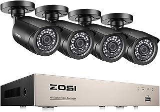 ZOSI 1080P Sistema de Cámaras de Seguridad 8CH 1080N Grabador DVR + (4) 2MP Cámara de Vigilancia Exterior sin Disco Duro Acceso Remoto