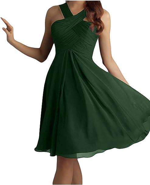 La Mia Braut Olive Gruen Damen Mini Chiffon Abendkleider Brautjungfernkleider Partykleider Jugendweihe Kleider Kurz Amazon De Bekleidung