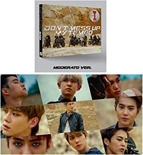 [Moderato Ver.] Don't Mess Up My Tempo 5th Album EXO Vol.5 CD + Cover + Photo Book + Photo Card + Extra 4Photo Cards Set