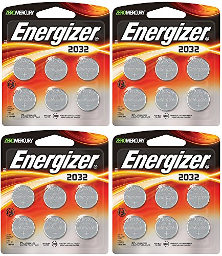 Energizer CR2032 3 Volt Lithium-Knopfzelle Akku, 4Units of 2032 6-Count
