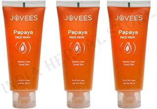 Jovees Herbal Papaya Face Wash for Blemishes and Pigmentation, 360 ml
