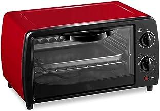 Bdesign Mini Horno eléctrico Negro con el Temporizador de Control de Temperatura Ajustable Doble Rejilla 700W Conveniente for cocer de Las tortas de la hornada Carne Pan Pastel horneado