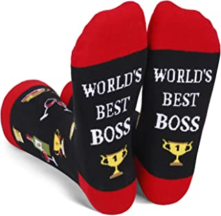 Unisex Novelty Dad Teacher Uncle Brother Socks Funny Saying Birthday Gifts for Boss and Best Friend Graduate