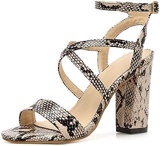 esPiel Serpiente Amazon Zapatos Tacón Mujer Para De Aj5q34LR