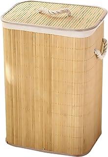 Panier à linge Vêtements pliables Banque de rangement Blanchisserie Dirty Vêtements De Stockage Bambo Panier Panier Vêteme...
