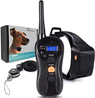 PetInn 100% Waterproof Humane Remote Dog Training Collar 600m Blind Operation Rechargeable Electric Collar with Tone Vibration Light For ALL Size Dogs