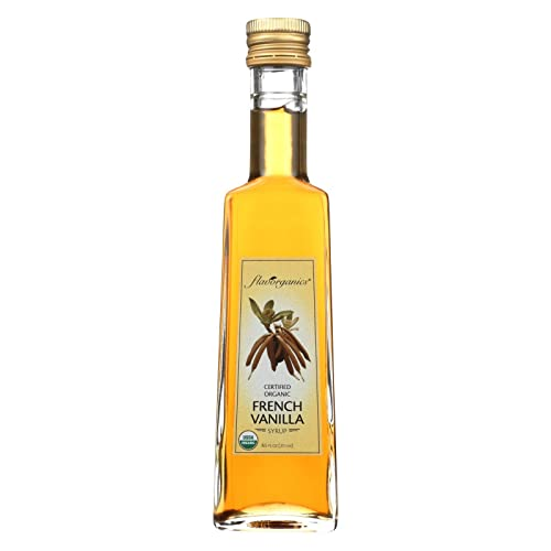 Flavorganics Organic French Vanilla Syrup, 8.5 Ounce - 6 per case.