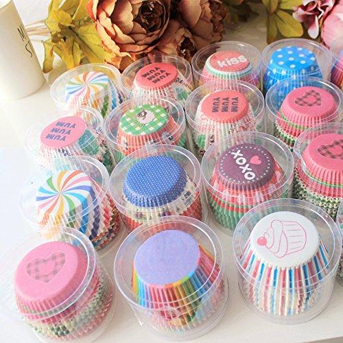 100Pcs papier coloré gâteau Cupcake doublure de cuisson Muffin boîte tasse cas partie plateau gâteau moule outils de décoration Cupcake Paper