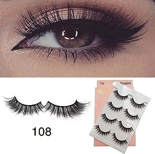 4 pairs 3D mink false eyelashes by natural Lashes Handmade False Eyelashes Set(108)