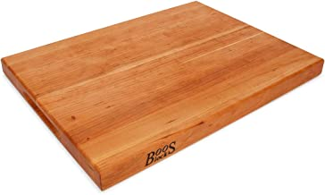 John Boos Cherry Wood Edge Grain Reversible Cutting Board, 20 Inches x 15 Inches x 1.5 Inches
