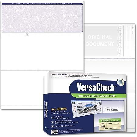 VersaCheck Secure Checks - 250 Blank Business Voucher Checks - Blue Classic - 250 Sheets Form #1000 - Check on Top
