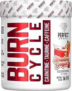 PERFECT SPORTS BURN CYCLE: Thermogenic, 144 g, Strawberry Daiquiri