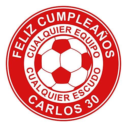 OBLEA de Papel de azúcar Personalizada, 19 cm, diseño de Escudo de Equipo de fútbol