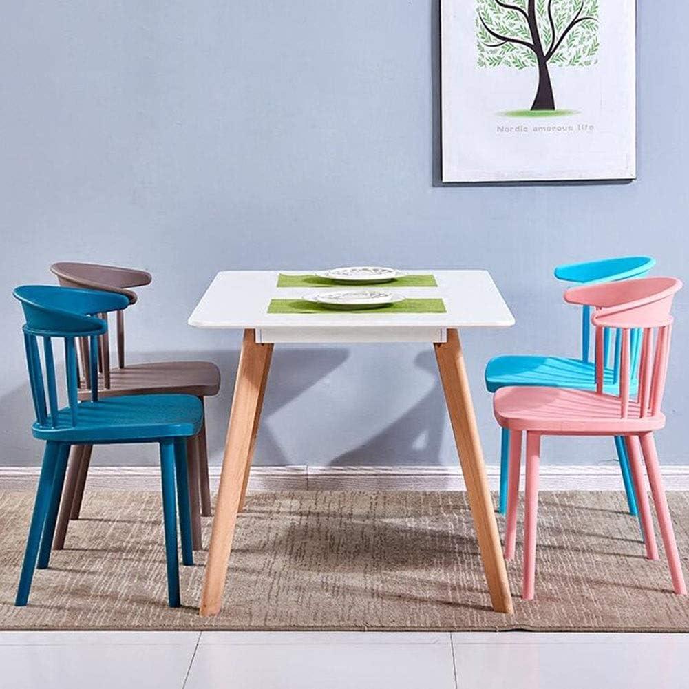 WYYY chaises Chaise De Salle À Manger Loisirs Nordiques Chaise De Table En Plastique Chaise De Café Minimaliste Moderne Durable Chaise De Réception Durable fort (Color : Pink) Gray