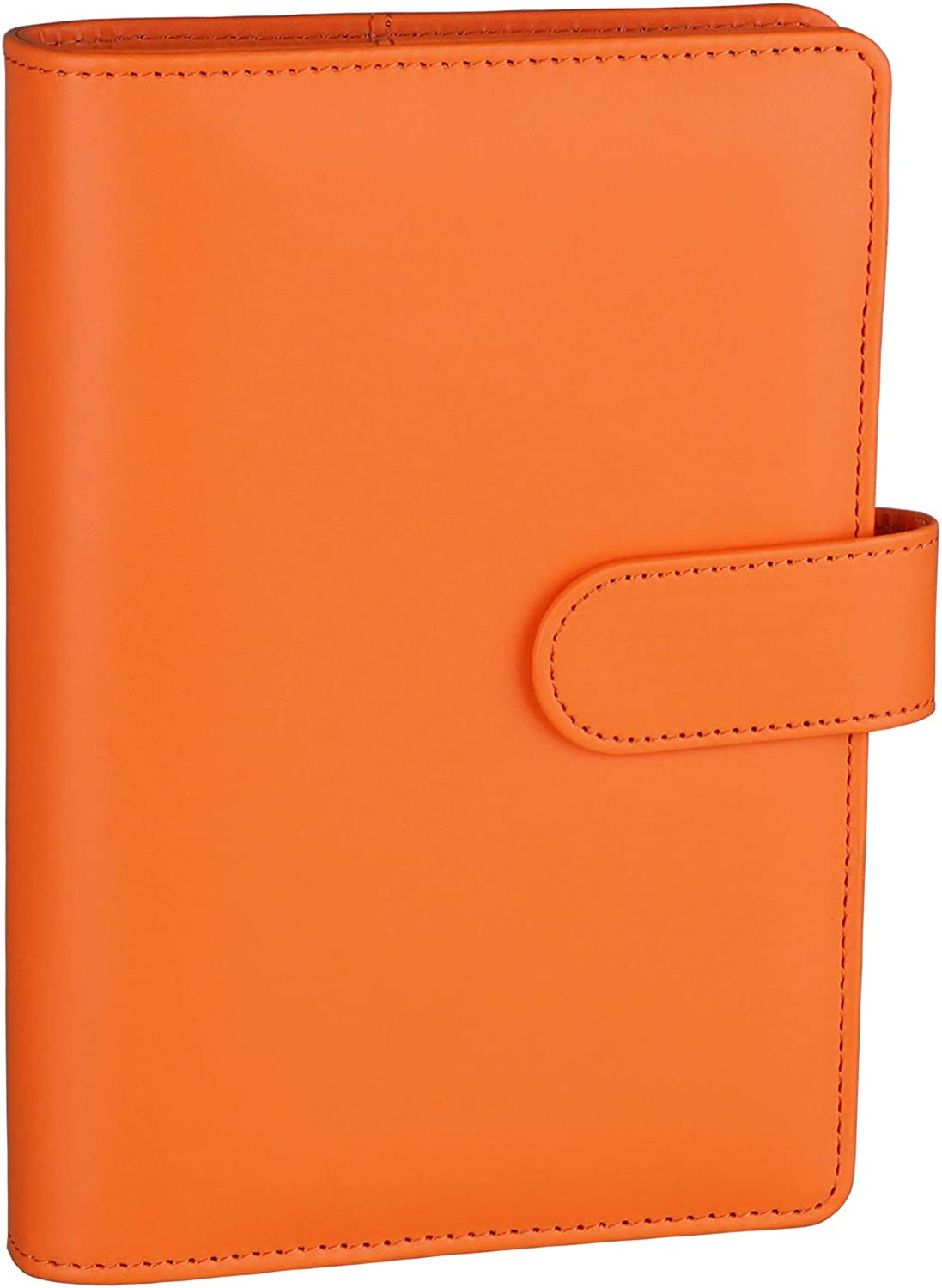 New item Antner Max 88% OFF A6 PU Leather Notebook 6 Ring Refillable Binder fo