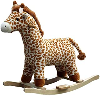 Plush Rocking Horse Kid Rocking Toy 18 Months to 3 Years Infant Rocking Horse Indoor Outdoor Toys, Exercise Balance boy Gi...