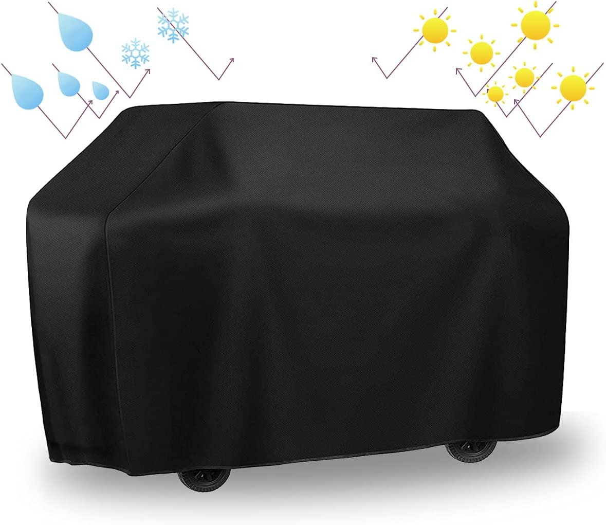 BBQ Grill Cover favorite 65 Max 52% OFF Inch with Waterproof Storage Resist Fade Bag