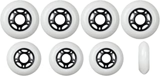 Player's Choice Outdoor Inline Skate Wheels 76mm / 80mm 89A White Hilo Set Roller Blade Hockey