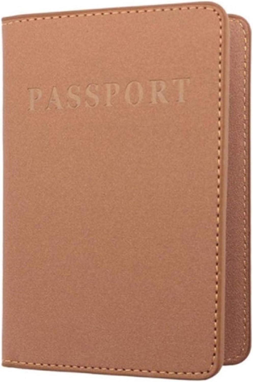 GUYAQ Reisepassh/ülle Reise Brieftasche Reisepass Inhaber Schutz ID-Karte Fall Pu Leder Reisetasche Reisedokument Organizer,Blau