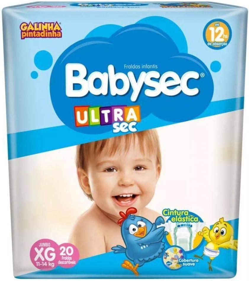 Fralda Babysec Galinha Pintadinha Ultrasec 20 Unidades, Babysec, XG, Azul