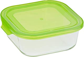 Taliona Borosilicate Glass Boro Square Food Container, Green, 800 ml