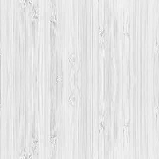 DON LETRA Papel Adhesivo de Madera para Muebles y Pared, Vinilo Auto-Adhesivo, Medida de 0.5x3m, Material Impermeable y Resistente, Color Blanco, V-MUPA-014