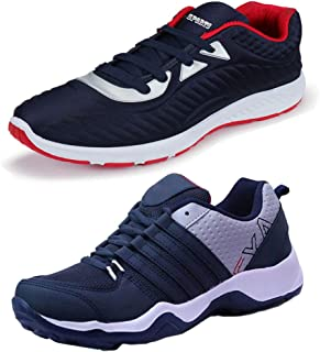 Bersache Men's Multicolor Combo Pack of 2 and Elegant Casual Wear Canvas Running Shoes