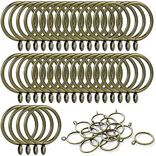 ANJUU 36 Pack 38mm Inner Diameter Metal Curtain Drape Sliding Eyelet Rings Antique Bronze Tone